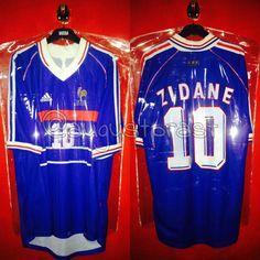 France Home Zidane France Jersey, Football, Sports, Tops, Fashion, Soccer, Hs Sports, Moda, Futbol