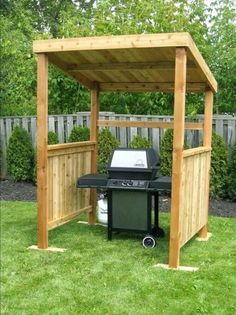 The pergola kits are the easiest and quickest way to build a garden pergola. There are lots of do it yourself pergola kits available to you so that anyone could easily put them together to construct a new structure at their backyard. Grill Gazebo, Backyard Gazebo, Backyard Landscaping, Grill Canopy, Outdoor Grill Area, Outdoor Grill Station, Outside Grill, Outdoor Cooking Area, Backyard Pavilion