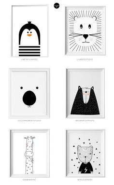 Black and white kids art from Etsy Schwarzweiss-Kinderkunst von Etsy Little flea interiors // kids homewear Baby Bedroom, Nursery Room, Boy Room, Kids Bedroom, Nursery Decor, Nursery Artwork, Bedroom Decor, Nursery Prints, Baby Room Art