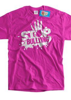 Anti Bullying Stop Bullying T-Shirt  school pink by IceCreamTees