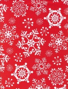 Christmas Fabric Snow Crystals in Red by Michael by neemerone, $9.99