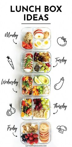 5 Easy and Healthy Lunch Box Ideas for everyone! These make-ahead lunch recipes … 5 Easy and Healthy Lunch Box Ideas for everyone! These make-ahead lunch recipes are perfect for a work lunch and great as real food on the… Continue reading → Lunch Meal Prep, Healthy Meal Prep, Healthy Snacks, Healthy Eating, Quick Healthy Lunch, Healthy Vegetarian Lunch Ideas, Diet Lunch Ideas, Packing Healthy Lunches, Easy Work Lunch Ideas