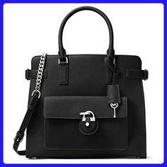 Michael Kors Emma Large North South Saffiano Leather Tote (Black) - Totes (*Amazon Partner-Link)
