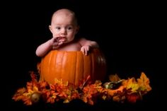 There is a baby in that pumpkin!