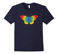 Men's Rainbow Colored Butterfly T-Shirt For Nature Lovers... https://www.amazon.com/dp/B071KW76V9/ref=cm_sw_r_pi_dp_x_U8yazbCJWNJ9J
