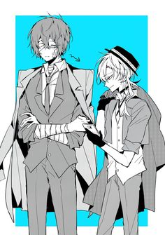 Dazai is looking to Chuuya's phone haha