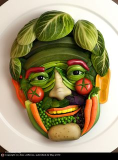 CGPortfolio - Alex Jefferies = Dr Oz Vegetable Portrait - Image commissioned for Esquire magazine 3ds max, Photoshop, VRay May 2010