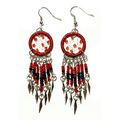 Handmade Dream Catcher Earrings - Check out this item in my Etsy shop https://www.etsy.com/uk/listing/267817490/handmade-dream-catcher-earrings