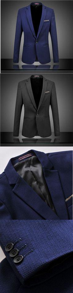 Men Suit Business Formal Men Fashion Blazer Jacket Plus Size M-6XL Slim Fit Suit Blazer Brand Design Male Casual Suit Jacket #plussizeblazers