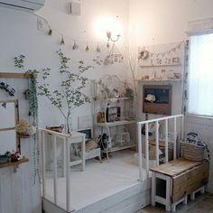 小上がりスペース/棚DIY/白×茶色が好き/部屋全体のインテリア実例 - 2015-07-06 16:07:55 | RoomClip(ルームクリップ)