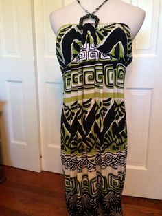 Ann taylor loft maxi dress white print