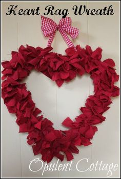 Looking for a last-minute Valentine's Day decoration? Here is an easy, fun project that can be made with just one item from the dollar store -- shop towels! You will need a couple of wire hangers, also. The original post...