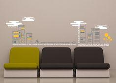 wall sticker brain teaser autocolant decorativ pentru perete oras www.caiverzipepereti.com