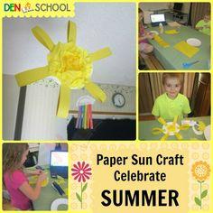 Summer Solstice CLIP (Creative Learning in a Pinch); Paper Sun Craft; Summer Bucket List; Summer Alphabet Countdown; FREE Printable Worksheets; #homeschool #DenSchool #educational #summer #holiday