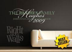 Fancy Family Names Vinyl Wall Art Decal