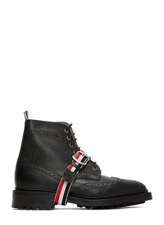 Men's Boots   Find more at LN-CC - Pebbled Leather Wingtip Brogue Boots