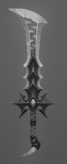 Forums – Questions & Réponses – Reproduire ses arme en – The Blender Clan – katana Fantasy Sword, Fantasy Weapons, Swords And Daggers, Knives And Swords, Armes Concept, Arsenal, Sword Design, Anime Weapons, Weapon Concept Art