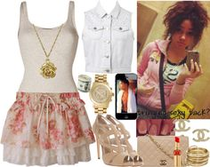 """""""Beige Beauty"""" by mindlessnickiswag4ray ❤ liked on Polyvore"""