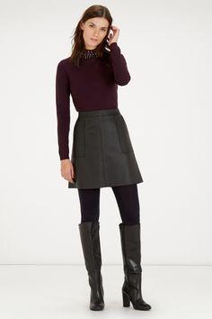 Sale Clothing | Purple PREMIUM DIAMANTE COLLAR JUMPER | Warehouse