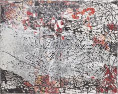 """MARK BRADFORD Mixed Signals, 2009 mixed media collage on canvas 48 x 60 in. (121.9 x 152.4 cm) Initialed, titled and dated """"Mixed Signals 2009 M"""" on the reverse."""
