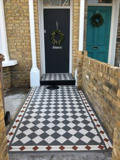 Front path and grey front door Front Path, Grey Front Doors, Paths, Exterior, Contemporary, Rugs, House, Home Decor, Homemade Home Decor