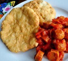 Another famous breakfast Hojaldra con salchicha (hojaldra & hot dogs)
