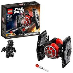 Battle with a Star Wars Episode VII First Order TIE Fighter Microfighter building kit. 92 pieces - Star Wars toy for boys and girls age LEGO Star Wars building toys are compatible with all LEGO construction sets for creative building. Lego Star Wars, Star Wars Disney, Lego Disney, Star Wars Toys, Tie Fighter, Millennium Falcon, Lego Ninjago, Lego City, Caza Tie