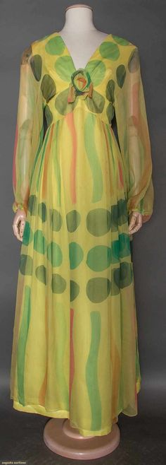 Maggie Reeves Chiffon Gown, C.1966