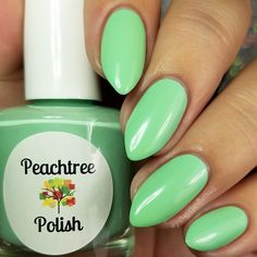 Mint green creme Opaque with 2 coats(1) 15ml bottle for $8.00OR(1) 7ml mini for $4.00photos courtesy of JustAGirlAndHerNails, GotNail and cdbNails143 on InstagramThank you Autumn, JayLynn and Cheyenne!