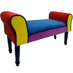 Modern Upholstered Bench Furniture Retro Multicolor Bed Bench Lounge Ottoman New