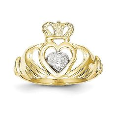 *Extra 10% off on our store plus No Shipping Charges! Period. 10k & Rhodium Cla... Check it out here! http://shirindiamond.net/products/10k-rhodium-claddagh-ring-10c1270?utm_campaign=social_autopilot&utm_source=pin&utm_medium=pin