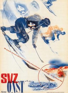 """ Herbert Matter poster from 1934 Herbert Bayer, Bauhaus, Modern Graphic Design, Graphic Design Illustration, Graphic Art, Vintage Ski Posters, Retro Posters, Kunst Poster, Museum"