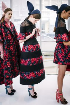 Behind-the-Scenes at Delpozo Fall 2015