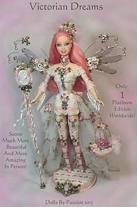 Barbie-Fairy-Victorian-Cameo-Collector-Doll-Altered-OOAK-Custom-Fantasy-PASSION