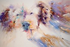 Dogs in Art at the StockBridge Gallery -        Love Me Watercolour Painting by Jean Haines, SOLD (http://www.dogsinart.com/love-me-watercolour-painting-by-jean-haines/)