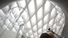 Given the rare chance to create a new museum from scratch,  the Broad  is trying some innovative approaches. The one visitors might notice first is an absence of traditional museum guards who look and act as if their primary job is shooing away viewers who get too close to the art.