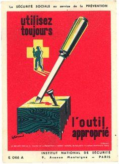 affiche sécurité,affiches,illustrateur,illustration,le guillerm, jean desaleux. http://lesbeauxdimanches.hautetfort.com/
