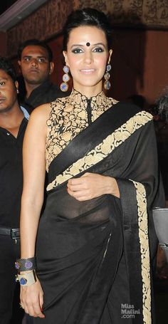 Neha in Black saree #saree #sari #blouse #indian #outfit #shaadi #bridal #fashion #style #desi #designer #wedding #gorgeous #beautiful