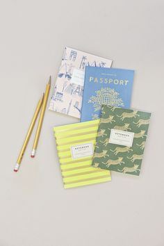 These travel themed notebooks from Rifle Paper Co. are simply darling.