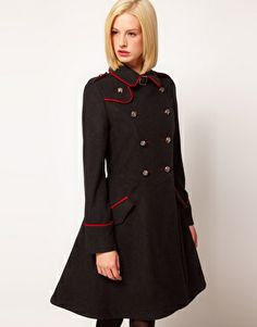 Enlarge ASOS Military Fit And Flare Coat