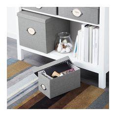 KVARNVIK Scatola con coperchio - grigio, 16x29x15 cm - IKEA