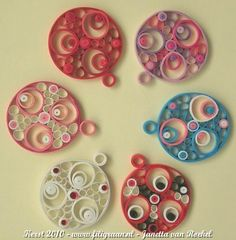 Quilled ornaments