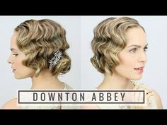 "By Kayley Melissa. ""Here's an easy way to learn how to finger wave with a curling iron + get a great hairstyle for your Halloween costume! Flapper Hair, Gatsby Hair, 1920s Flapper, Bob Updo Hairstyles, Vintage Hairstyles, Wedding Hairstyles, Hairstyles Videos, Waves Curls, Pin Curls"