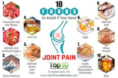 10 foods to avoids with joint pain