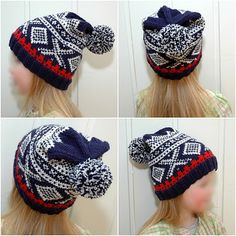 Ravelry: MaJiuslue pattern by Maja V. Knitting For Kids, Baby Knitting, Knitted Hats, Crochet Hats, Norwegian Knitting, Warm In The Winter, Pattern Library, Kids Hats, Needles Sizes