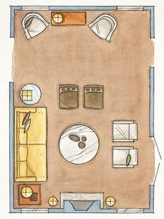Living Room Arranging