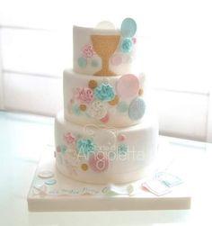 torta prima comunione unisex