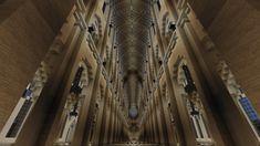Intérieur Cathédrale Notre-Dame de paris. #Minecraft Minecraft