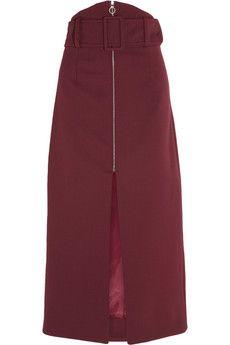 Carven Gabardine midi skirt  | THE OUTNET