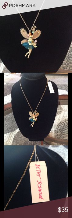 """NEW! BETSEY JOHNSON """"FAIRY"""" NECKLACE BRAND NEW! BETSEY JOHNSON """"FAIRY"""" NECKLACE-Adjustable 16 1/2""""-19 1/2""""-EXCELLENT NEW CONDITION!! WARNING-Not for children under 12.... Betsey Johnson Jewelry Necklaces"""